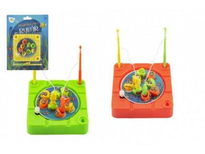 Hra ryby/rybář magnetická na natažení 3 barvy