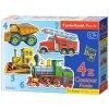 Baby puzzle Dopravní prostředky 4v1 (4,5,6,7 dílků)