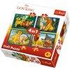 Puzzle Lví král a přátelé 4v1