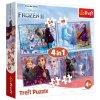 Puzzle Ledové království 2 Cesta do neznáma 4v1 (35,48,54,70 dílků)