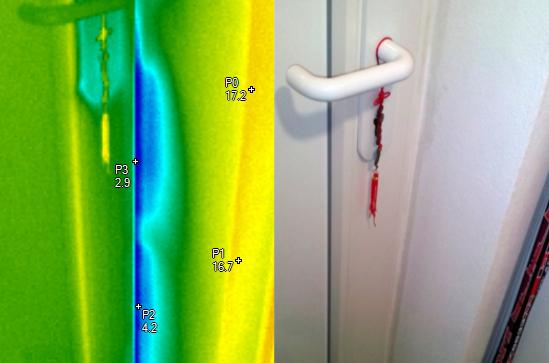nfiltrace chladného vzduchu do interiéru - termocorp.cz, termovizní měření na Šumpersku, termokamera Šumperk