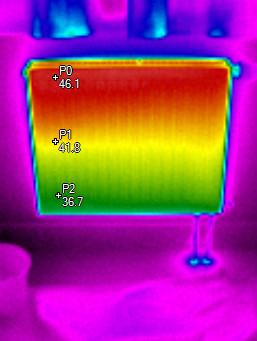 Teplotní gradient radiátoru - termocorp.cz  termovizní měření na Šumpersku, termokamera Šumperk