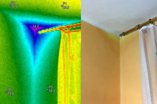Rosný bod - Termovizní měření na Šumpersku, termokamera Šumperk