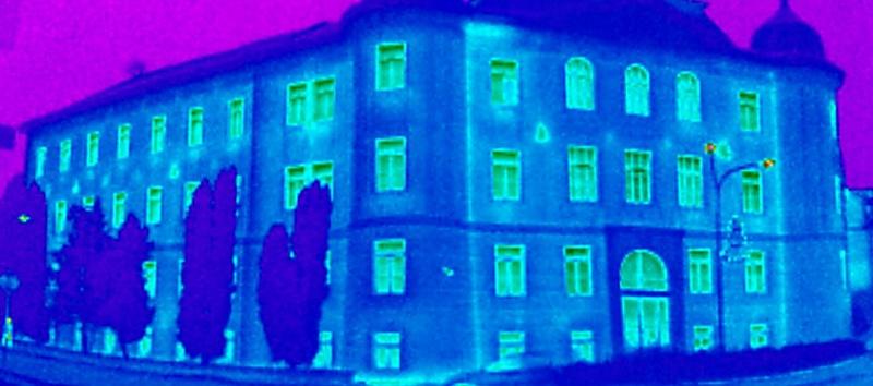 termovizní měření na Šumpersku, termovize Šumperk, termovize budov, tepelný únik budovy