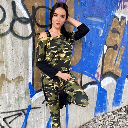 Dámské tričko ARMY JUMPER khaki2