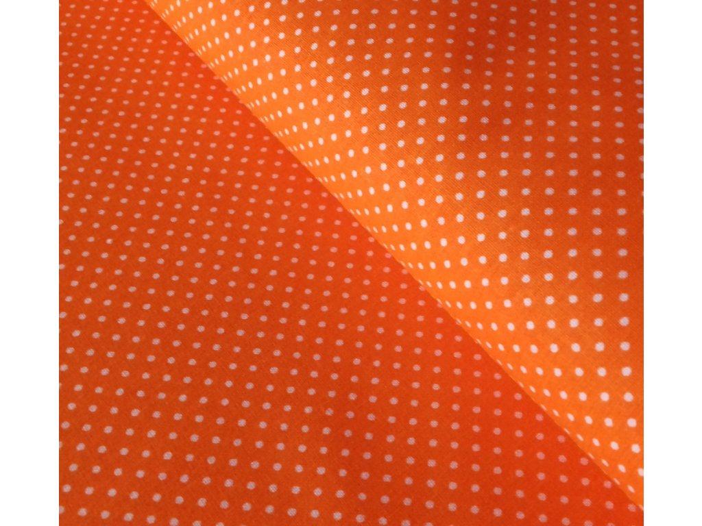 Jarní - oranžové puntíčky