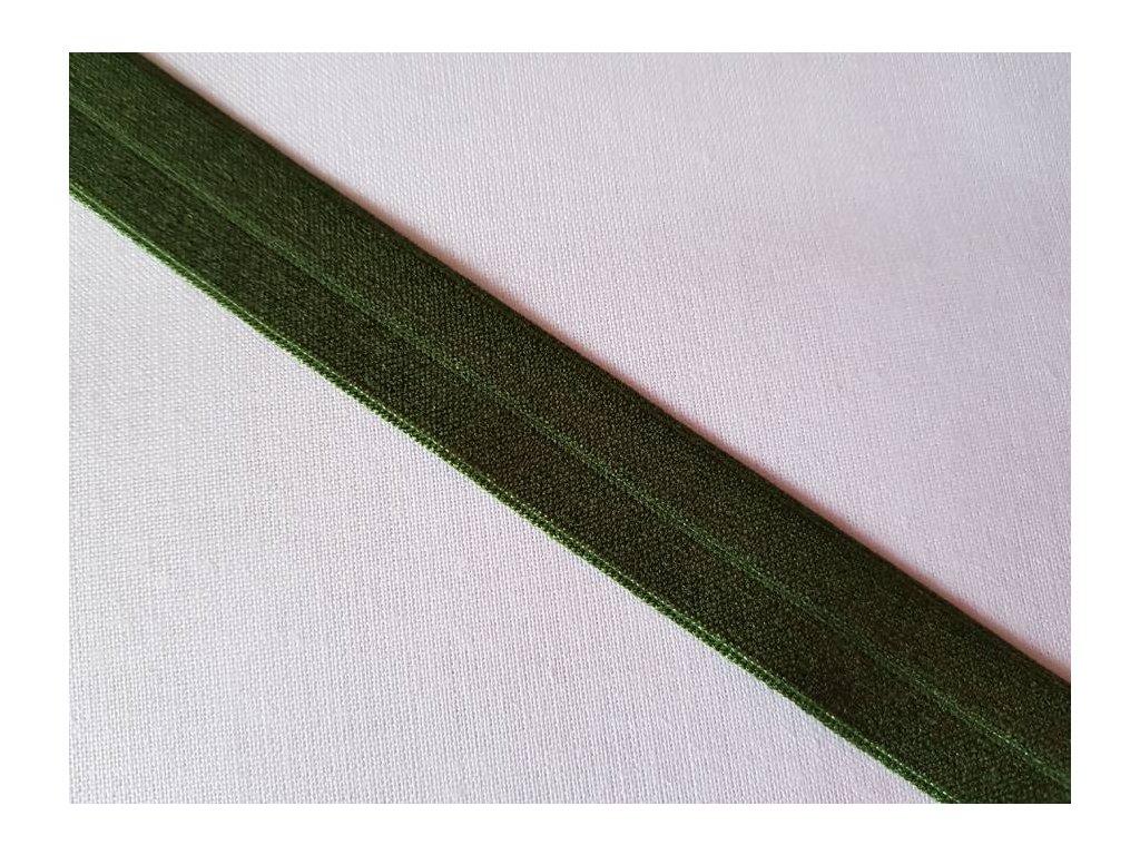 Lemovací gumička tmavě zelená