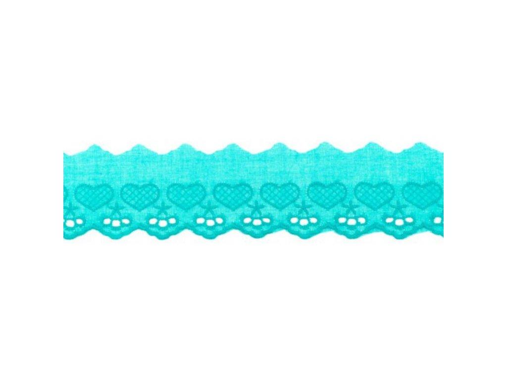 Bavlněná krajka 5cm - tyrkysová
