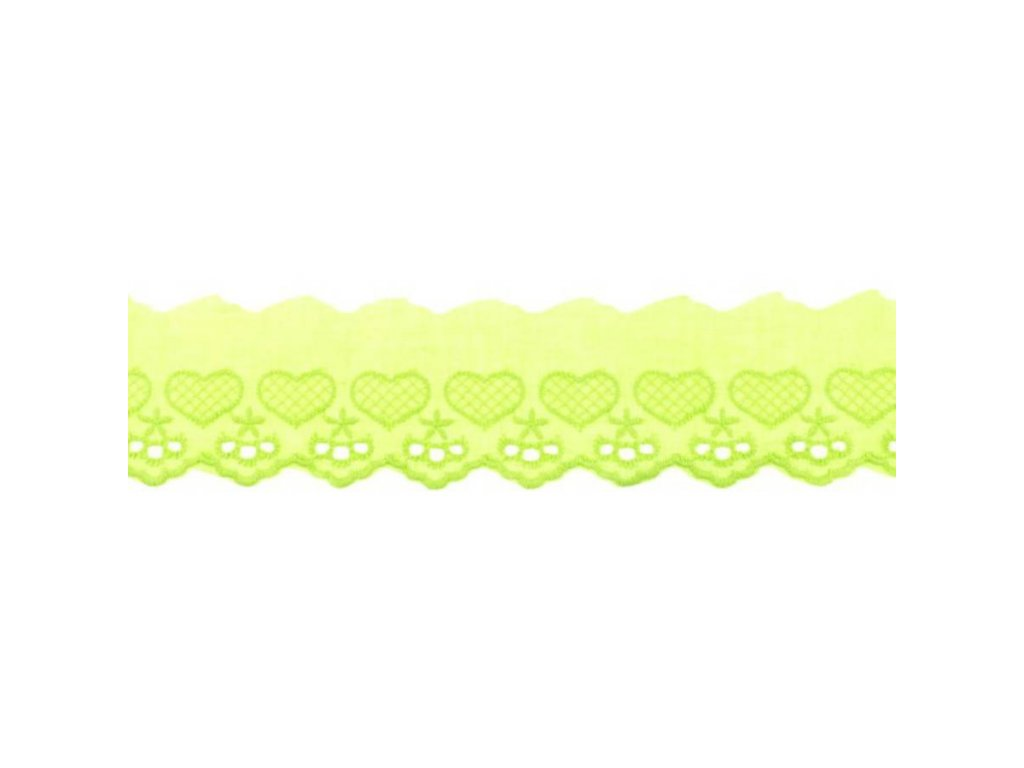 Bavlněná krajka 5cm - limetková