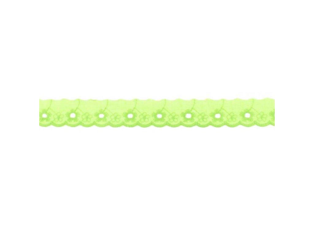 Bavlněná krajka 2,5cm - limetková