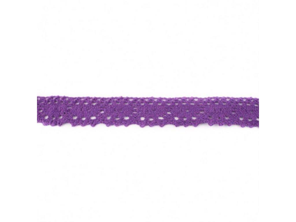 Krajka paličkovaná 25mm - fialová