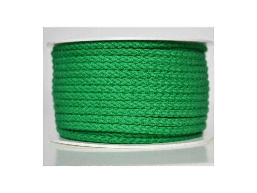 Bavlněná šňůrka 5 mm - tmavě zelená
