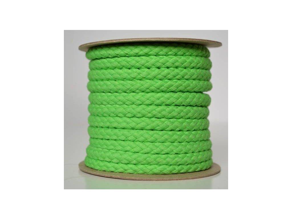 Bavlněná šňůrka 8,8mm, zelená
