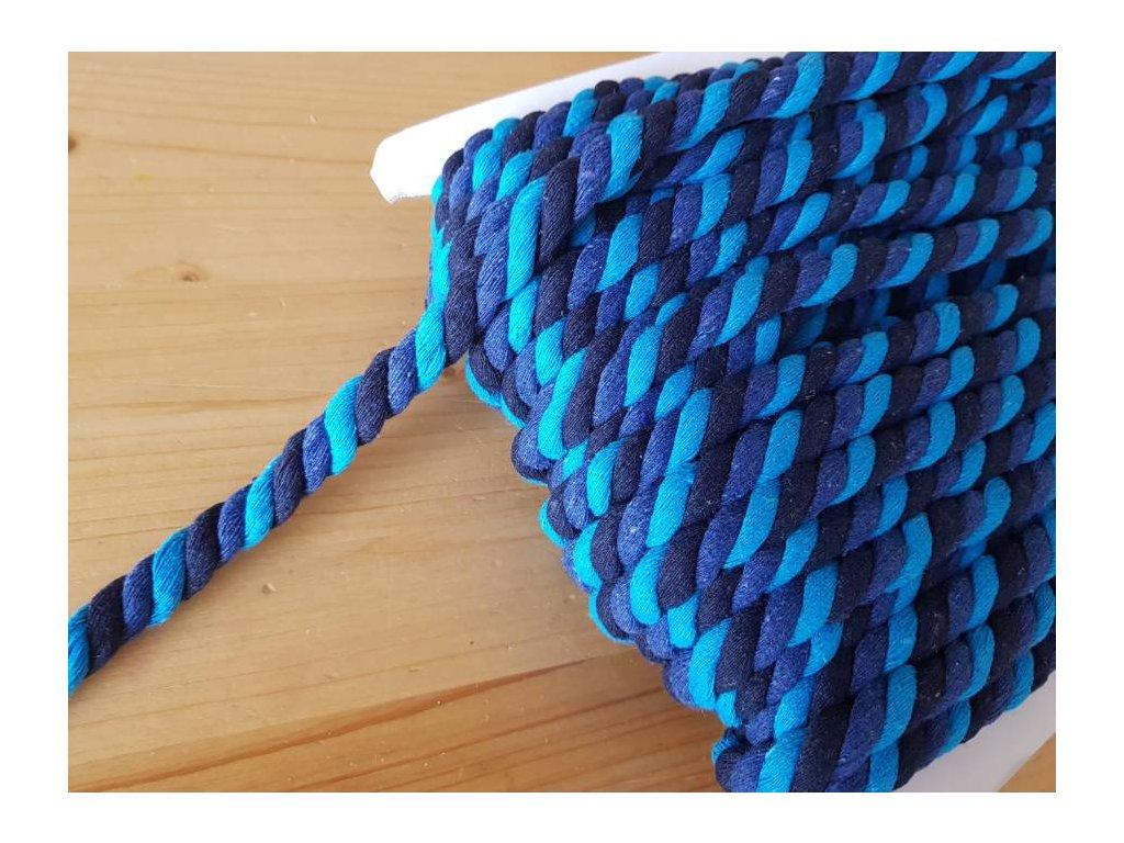 Bavlněná šňůra 18mm -  modrá