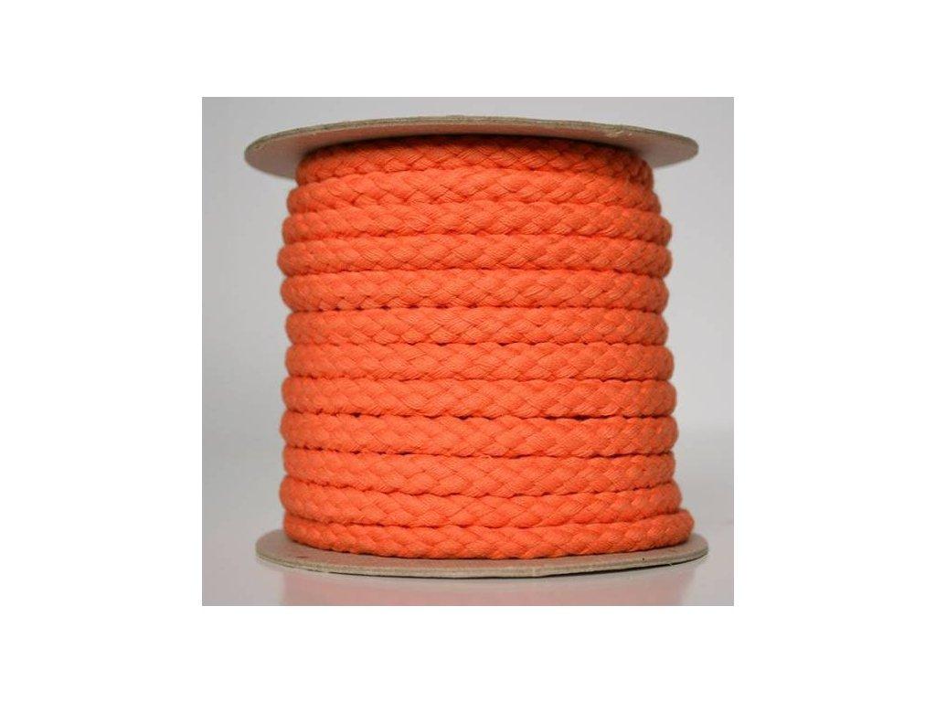 Bavlněná šňůrka 8,8mm - oranžová