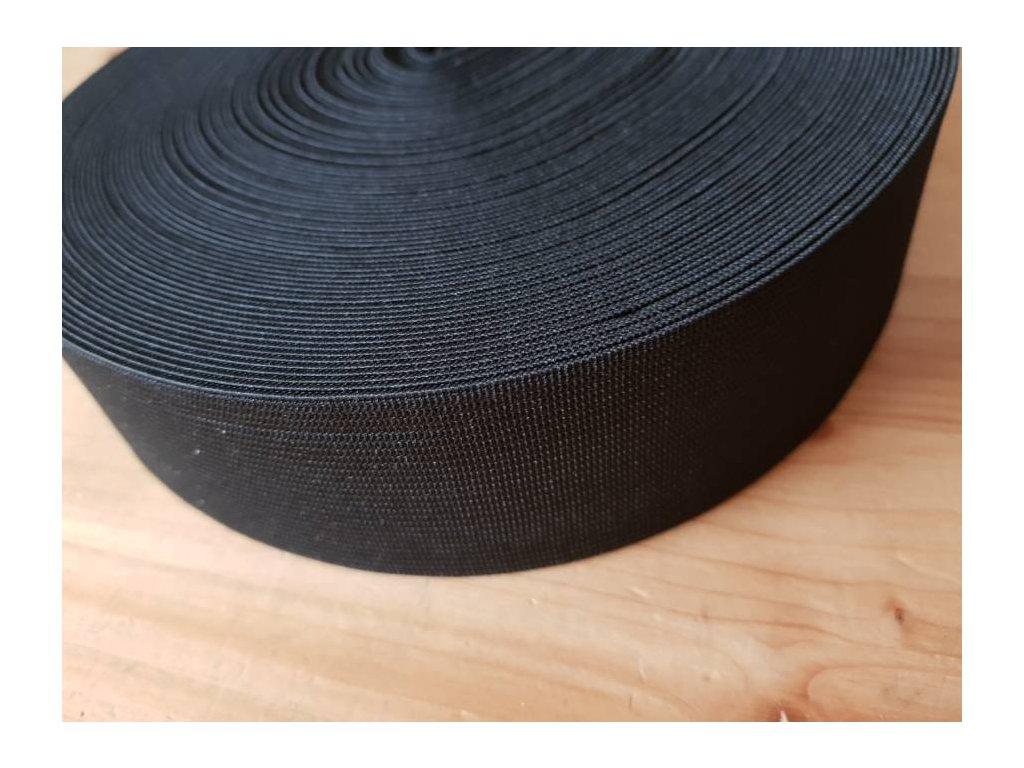 Guma plochá 4,5 cm - černá