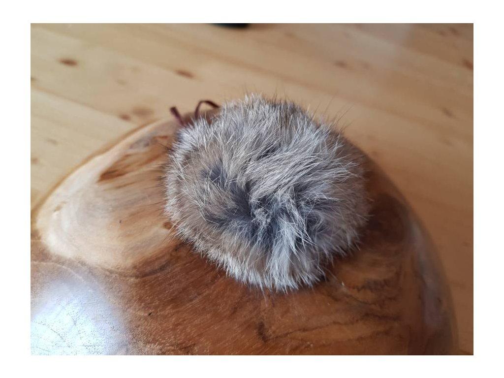 Bambule z králičí kožešiny-hnědá