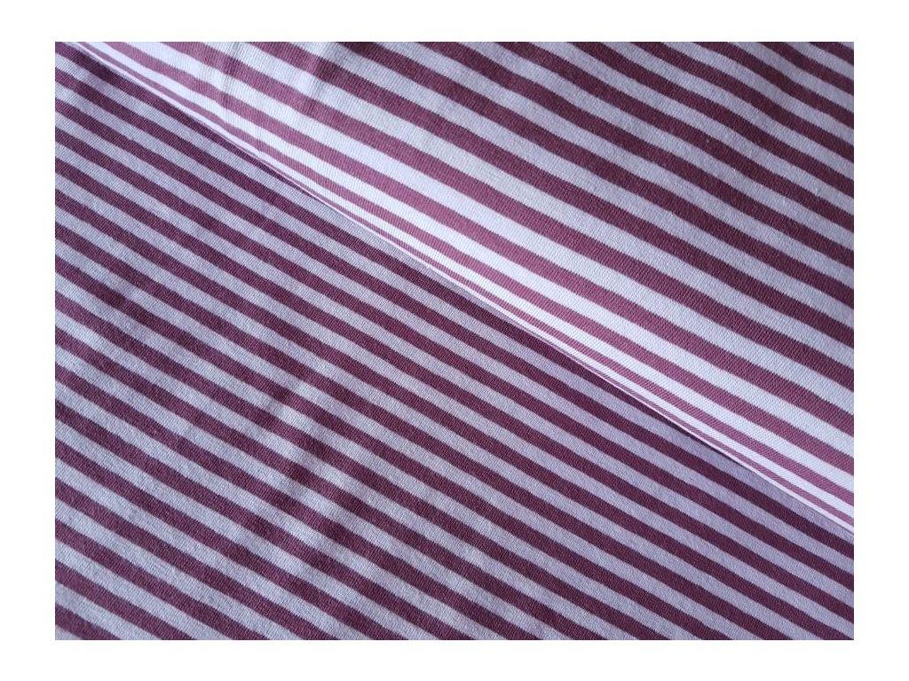 Úplet - proužky staroružové/bordo