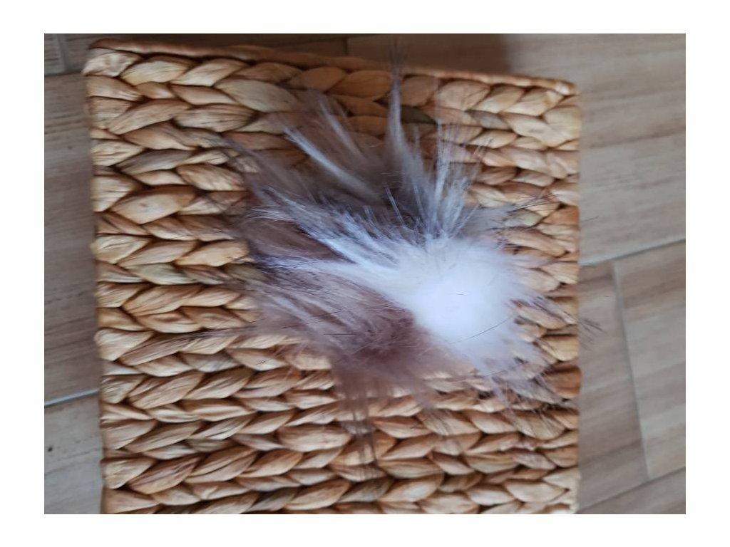 Bambule - 10 cm z umělé kožešiny trojbarevna