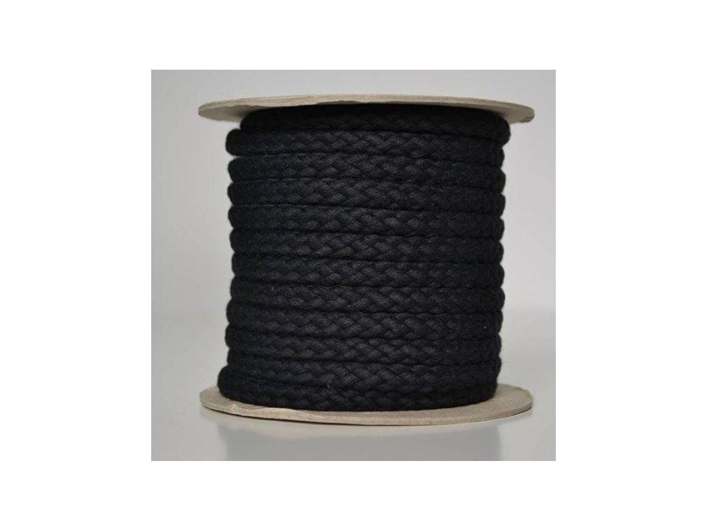 Bavlněná šňůrka 8,8mm - černá