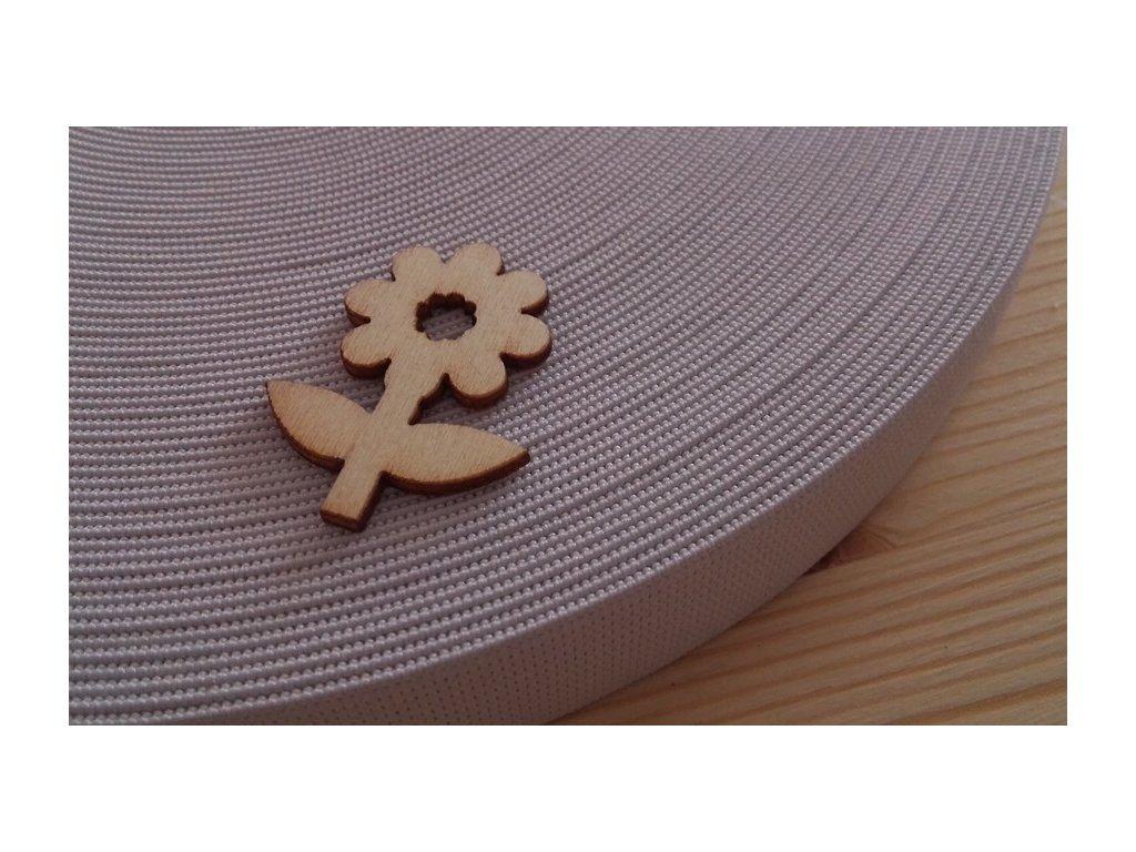 Guma plochá 2,5 cm -  bílá
