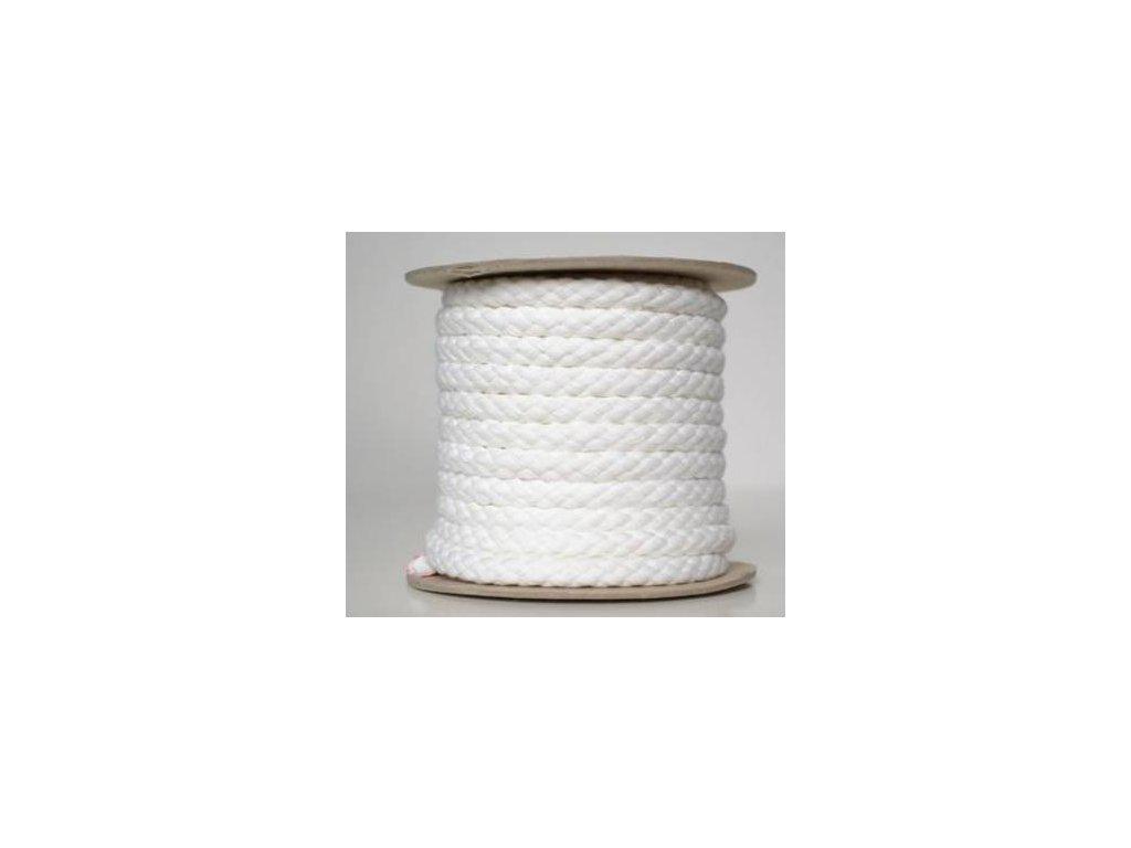 Bavlněná šňůrka 8,8 mm -bílá