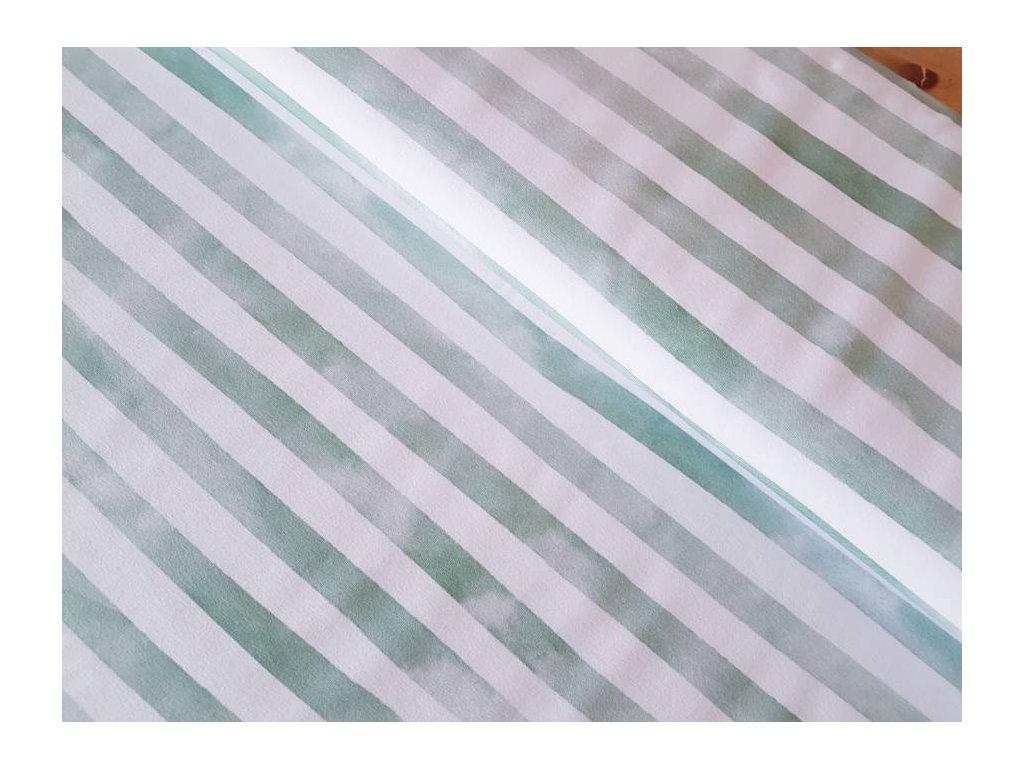Lillestoff Bio úplet - Zelené pruhy