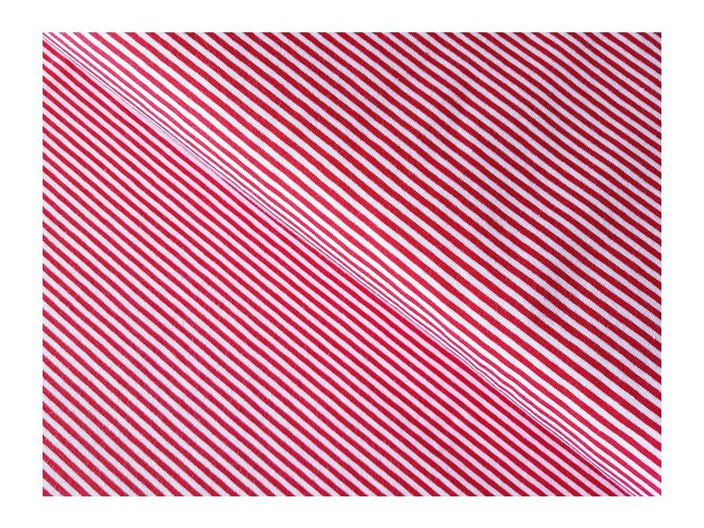 Úplet - proužky červené