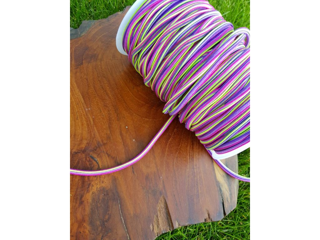 Kulatá  klobouková guma 5mm - trio fialová