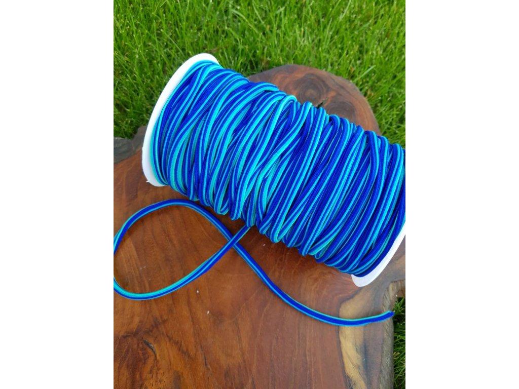 Kulatá  klobouková guma 5mm - trio modrá