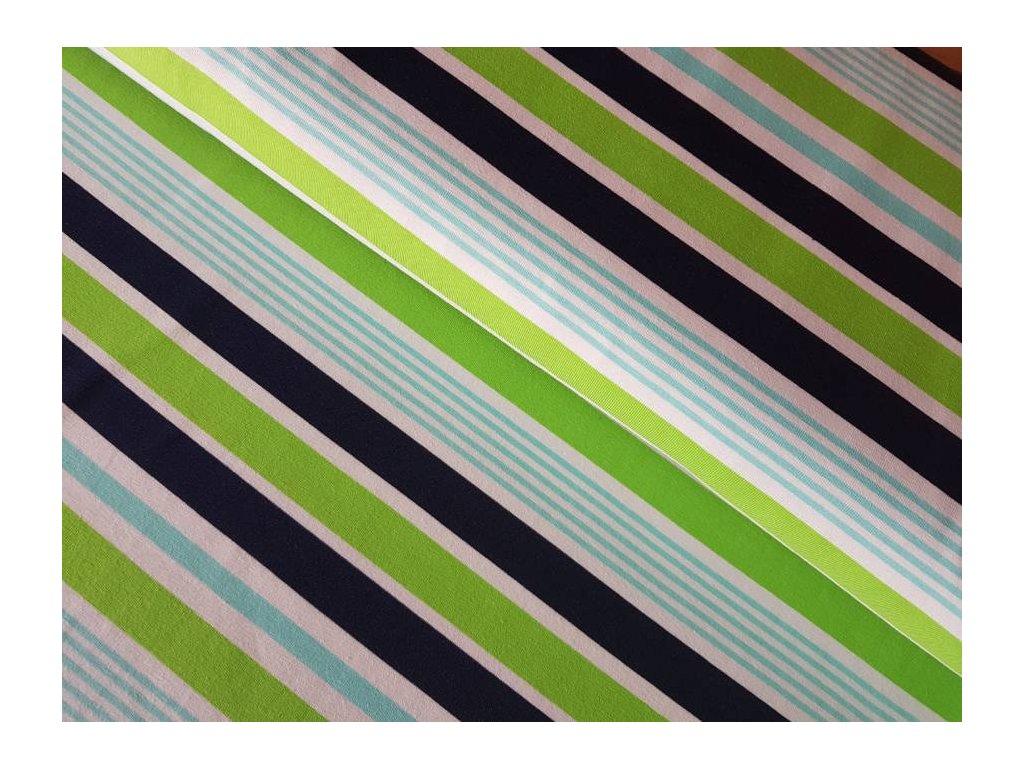 Úplet - proužky zelené