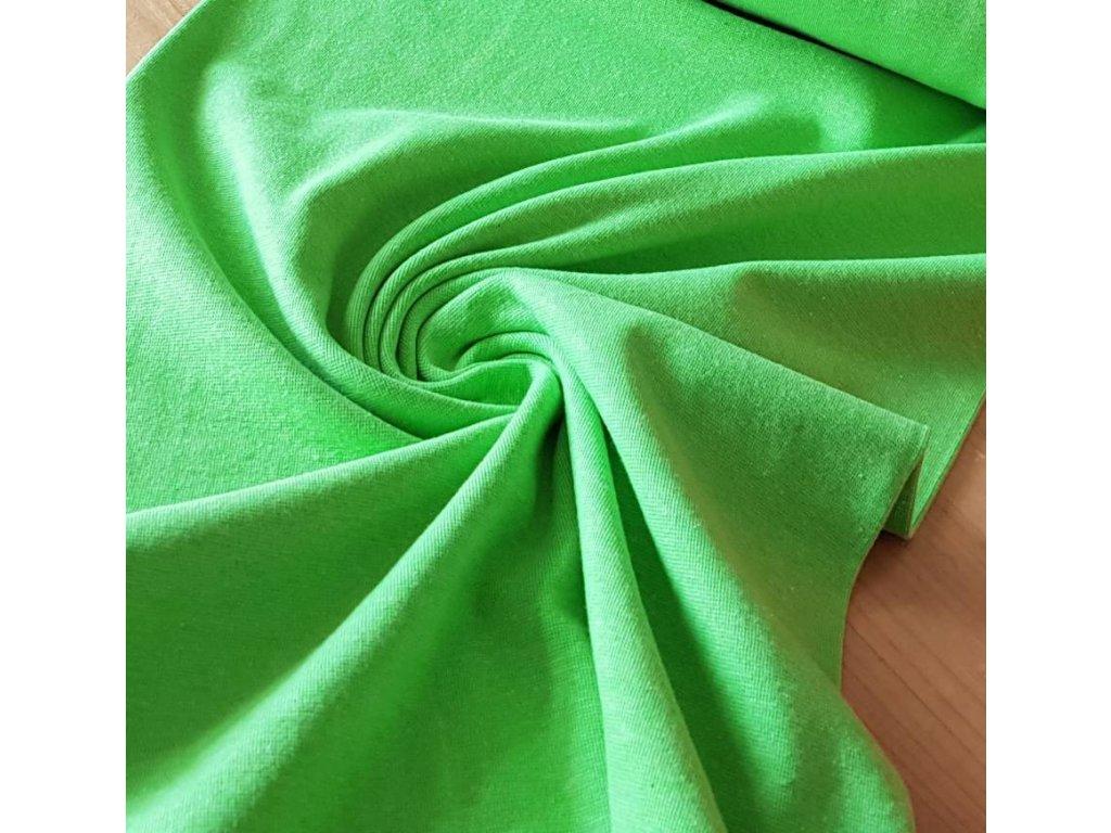 Náplet hladký -  neon zelený