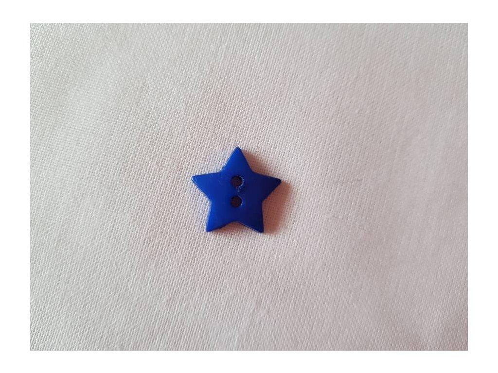 Knoflík -  hvězdičky modré