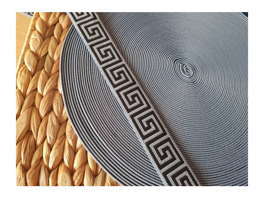 Guma plochá - řecky vzor šedý