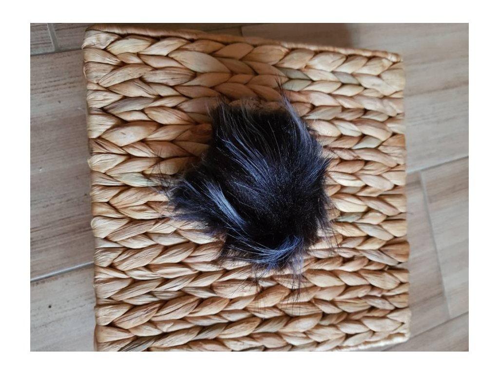 Bambule - 10 cm z umělé kožešiny černobílá