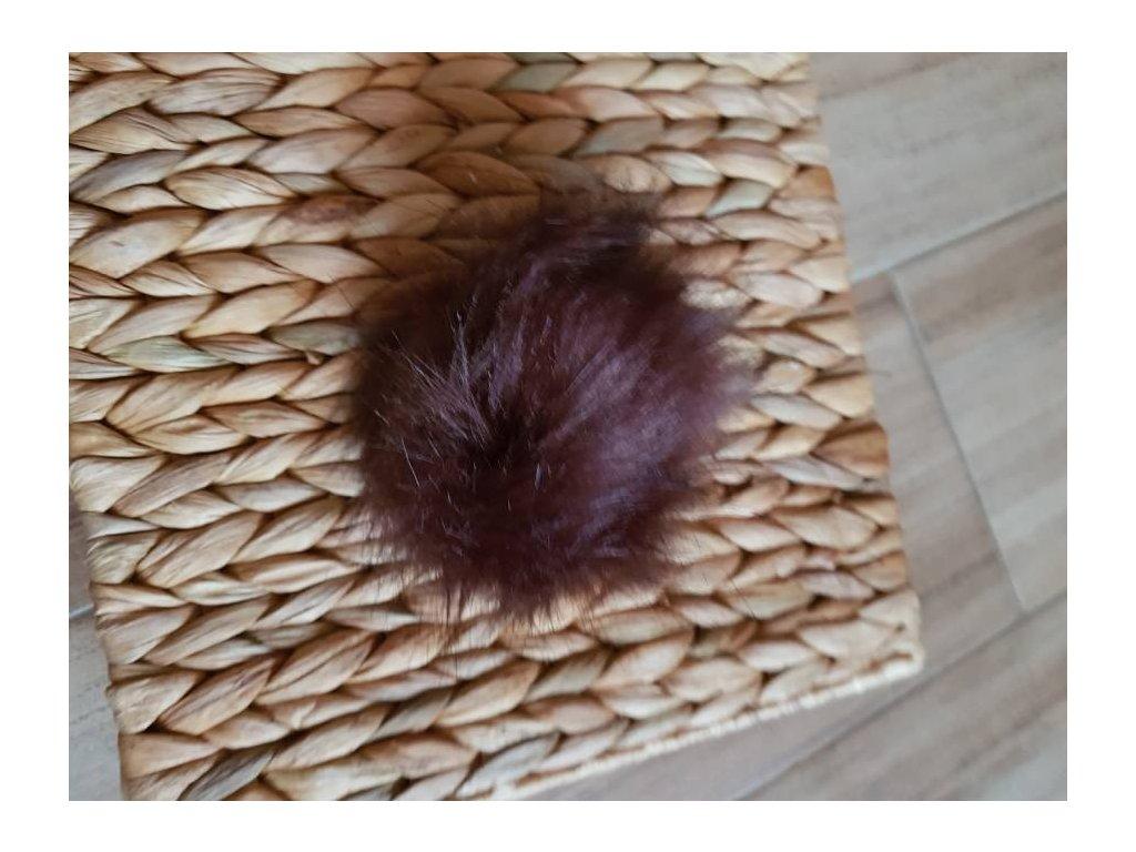 Bambule - 10 cm z umělé kožešiny hnědá