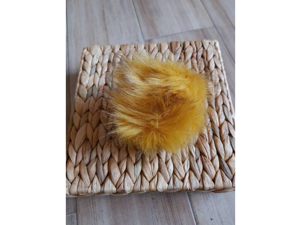 Bambule - 12 cm z umělé kožešiny zlatá