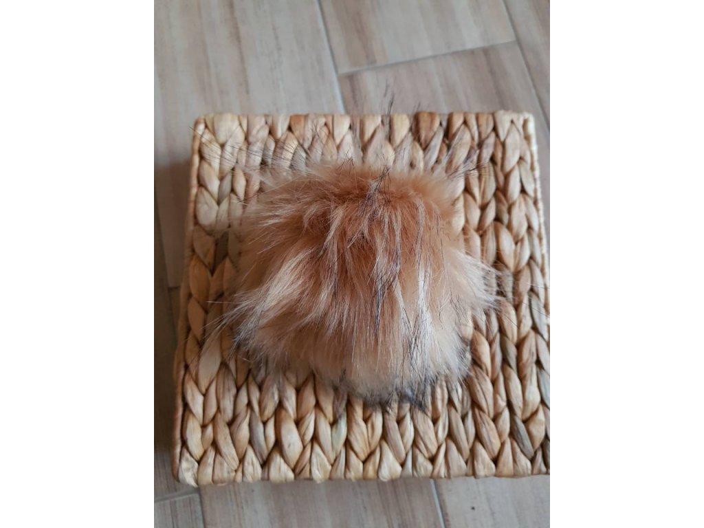 Bambule - 12 cm z umělé kožešiny béžová