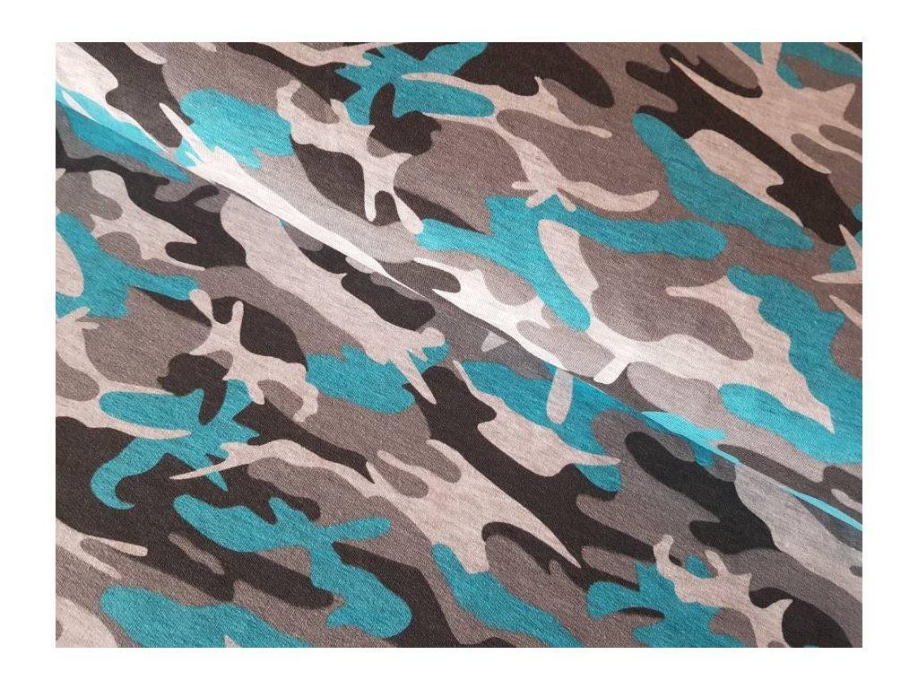 El.Teplákovina - modrošedý maskáč