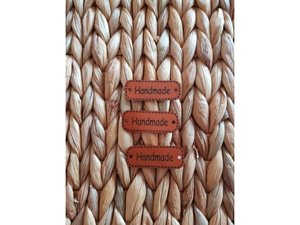 Koženkový štítek - handmade