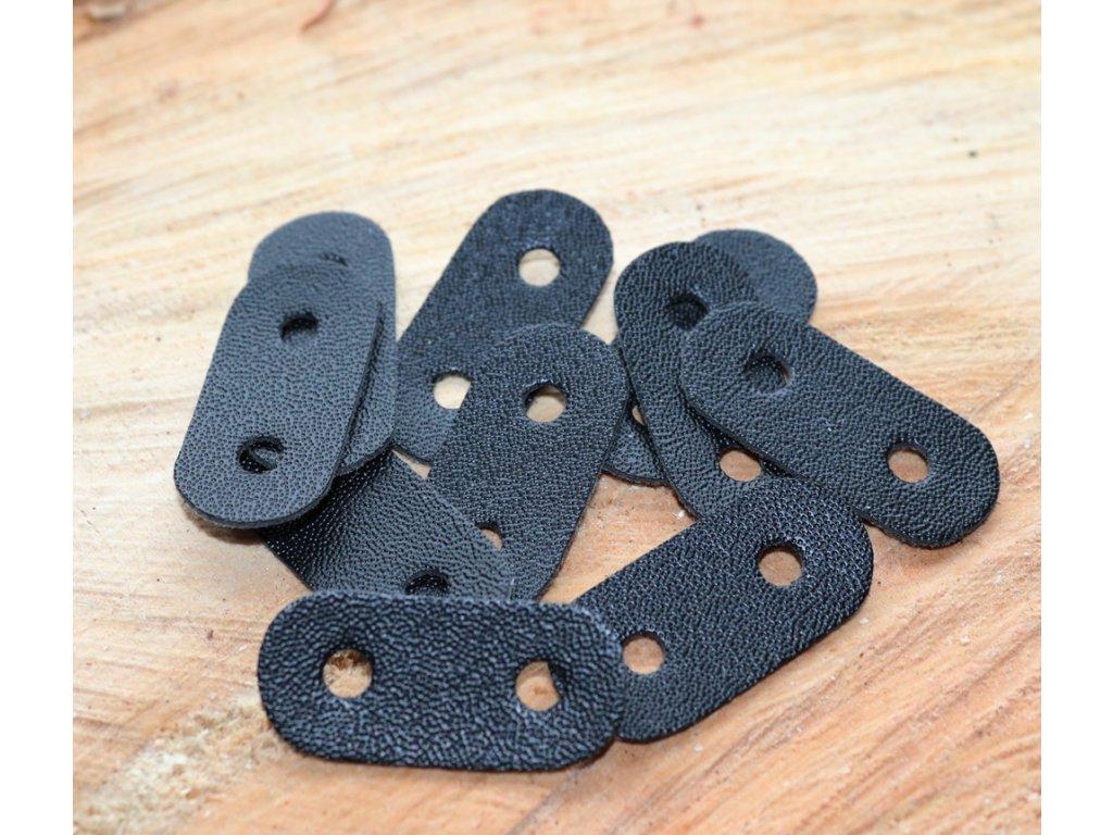 Koženkový štítek -černý