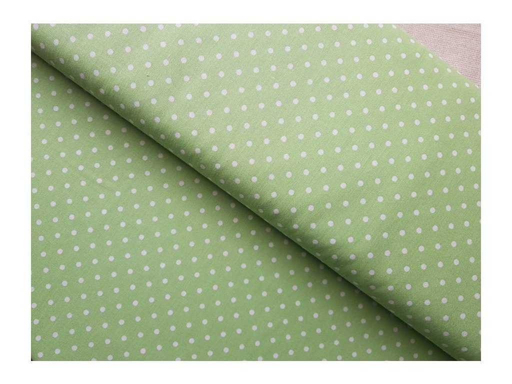 Zelená limetka - puntíky