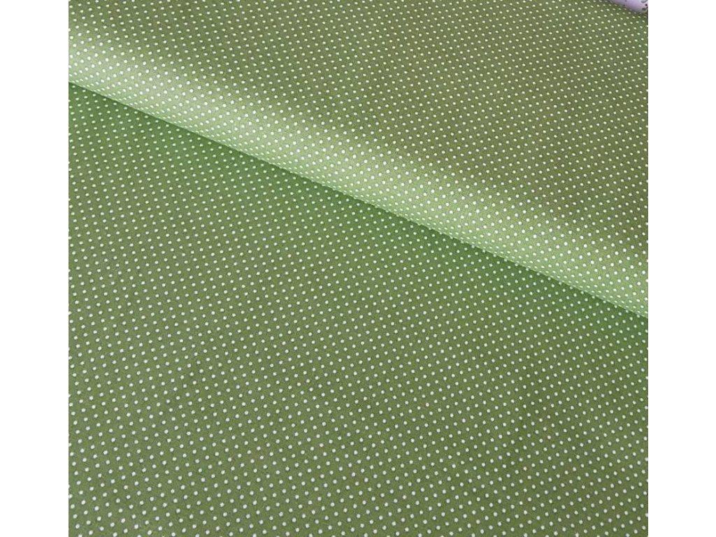 Zelená - puntíčky