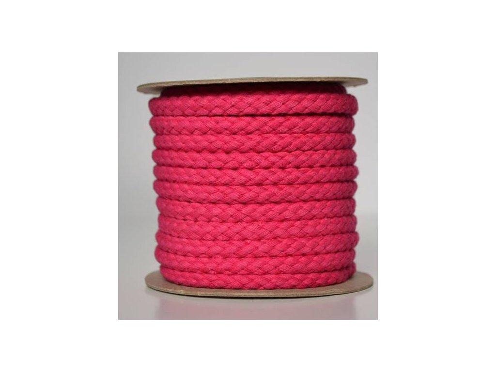 Bavlněná šňůrka 8,8 mm - růžová