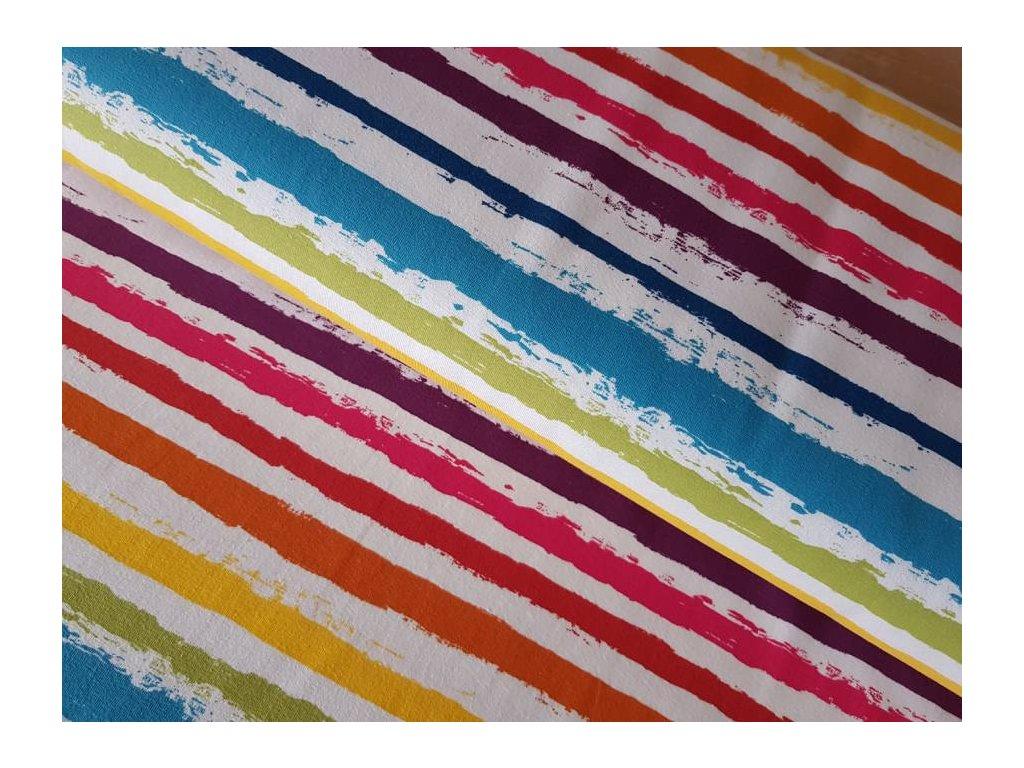 Úplet - barevné pruhy