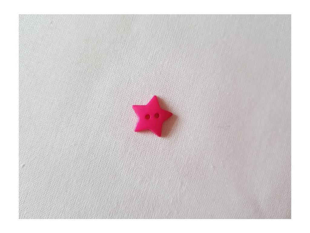 Knoflík -  hvězdičky růžové