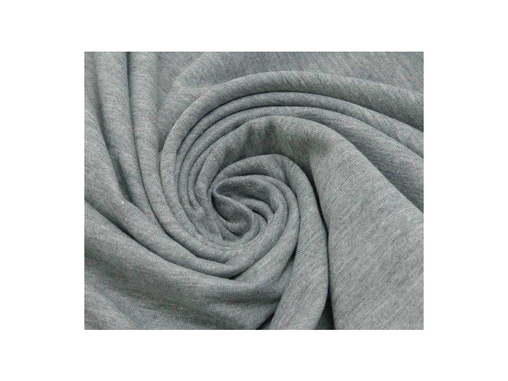 Elastická teplákovina - šedý melír tmavý