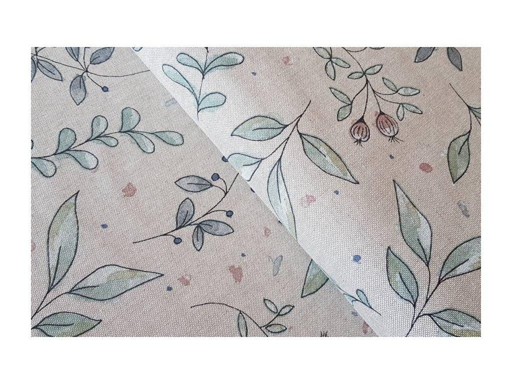 Režná - malované květy