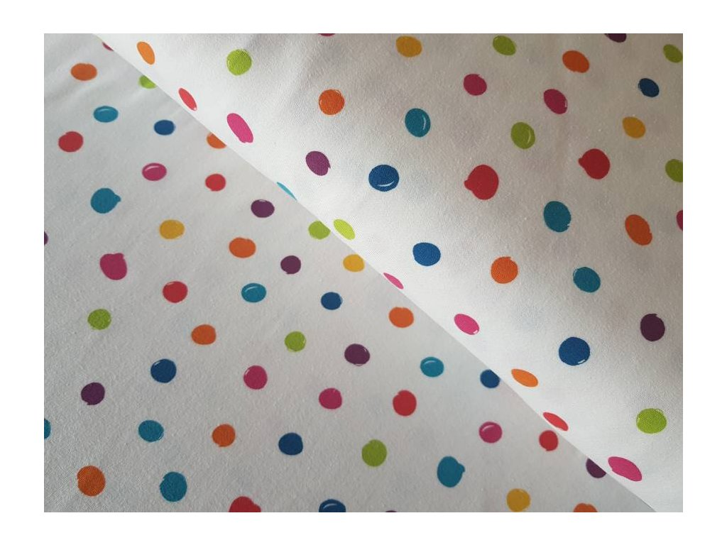Úplet - barevné puntíky