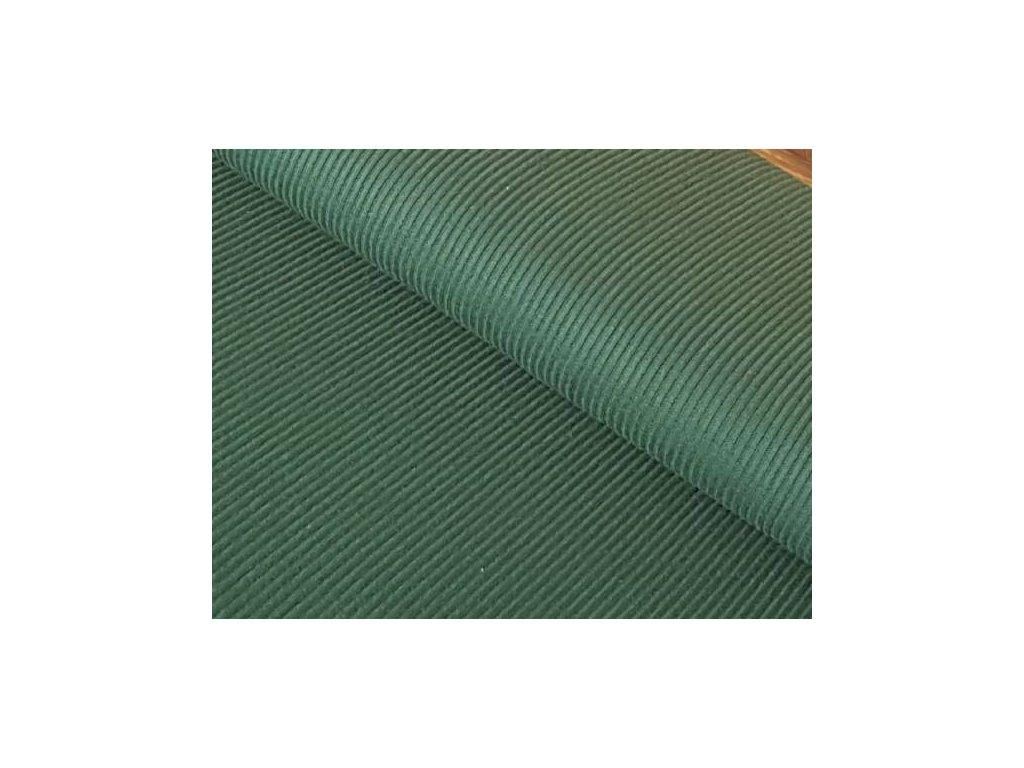 Úplet bavlněný elastický žebrovaný - zelený